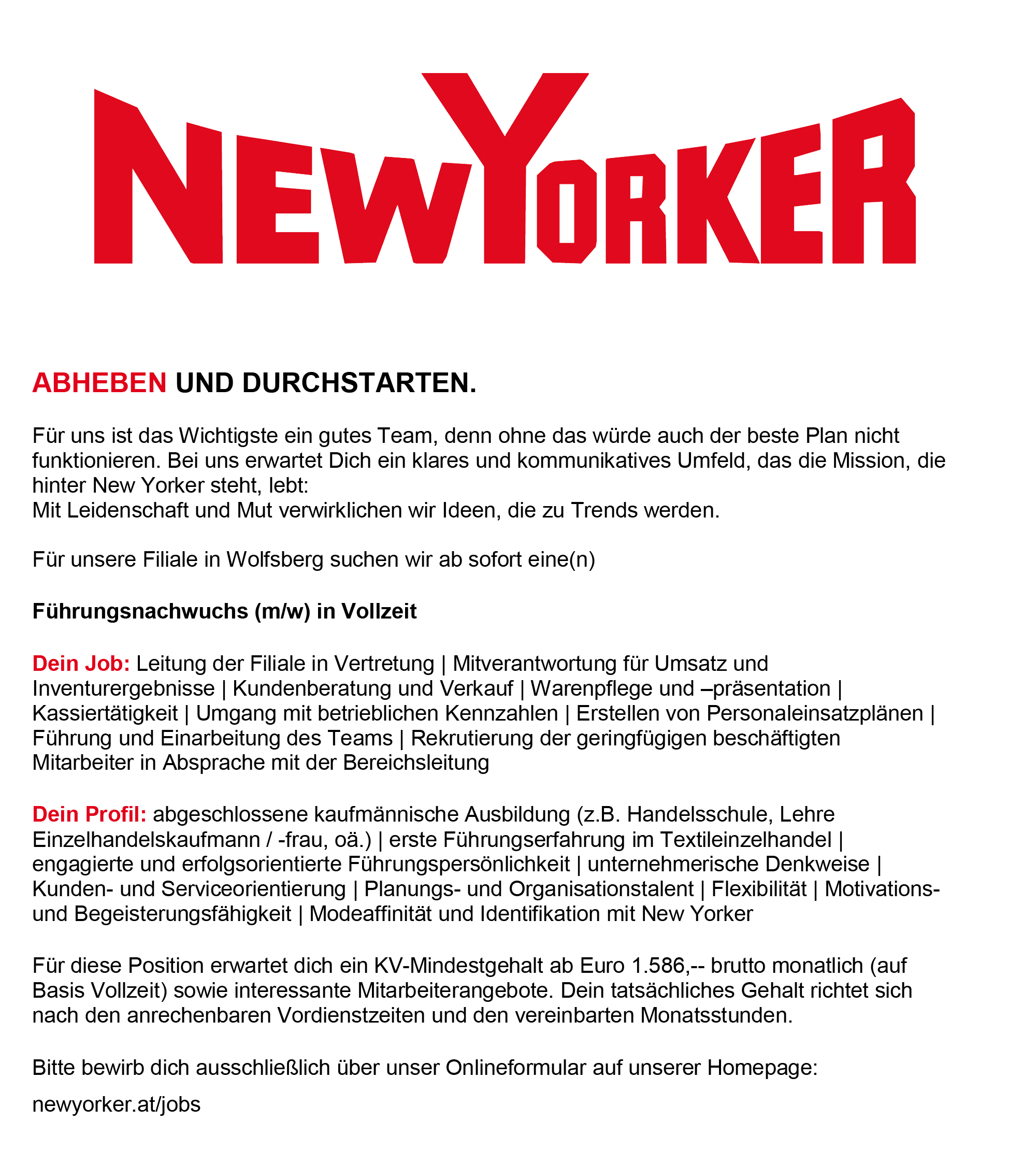 Führungsnachwuchs New Yorker