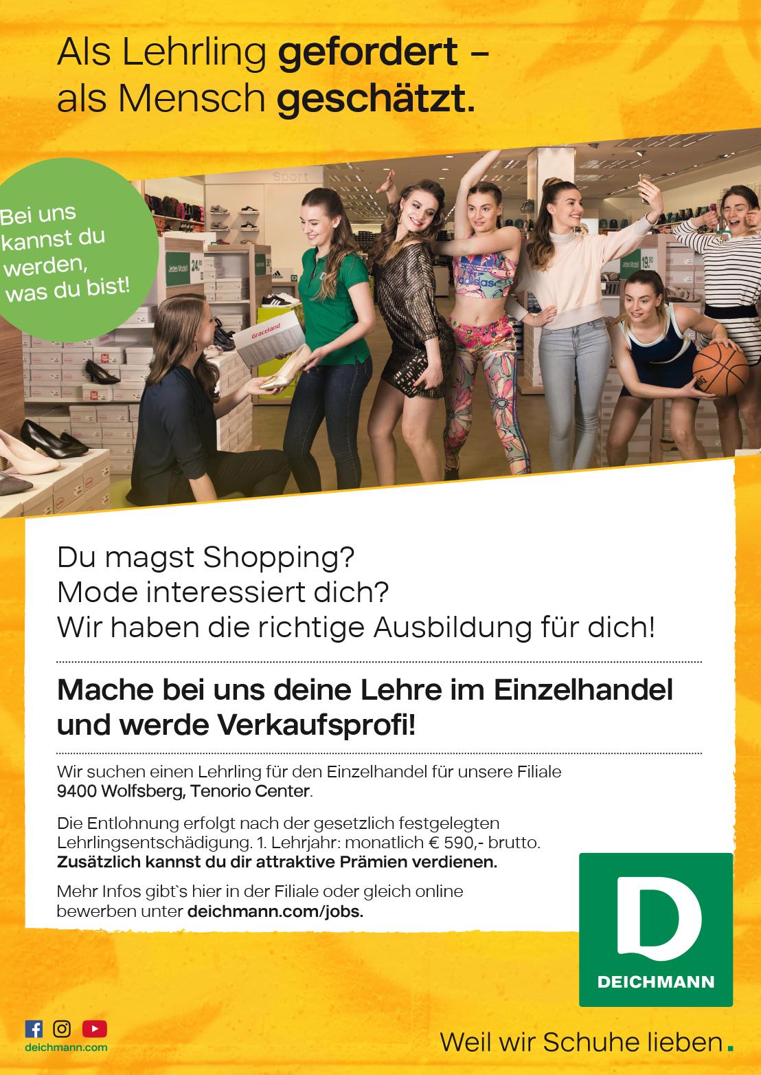 2018 07 deichmann lehrling - Deichmann Bewerbung